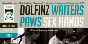 "Paws, Waiters, Sex Hands & Dolfinz - Split 12"" Album Review"