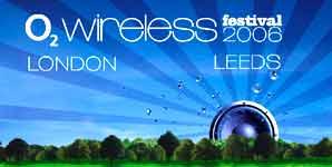 O2 Wireless Festival 2006, News, line-up
