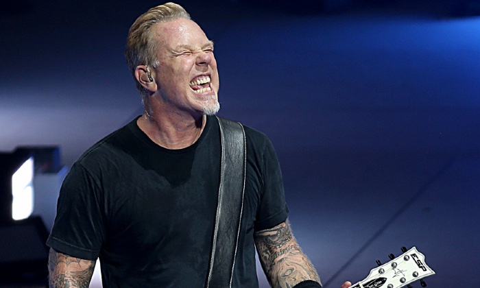 James Hetfield performed with Metallica in 2017 / Photo credit: Oliver Berg/DPA/PA Images