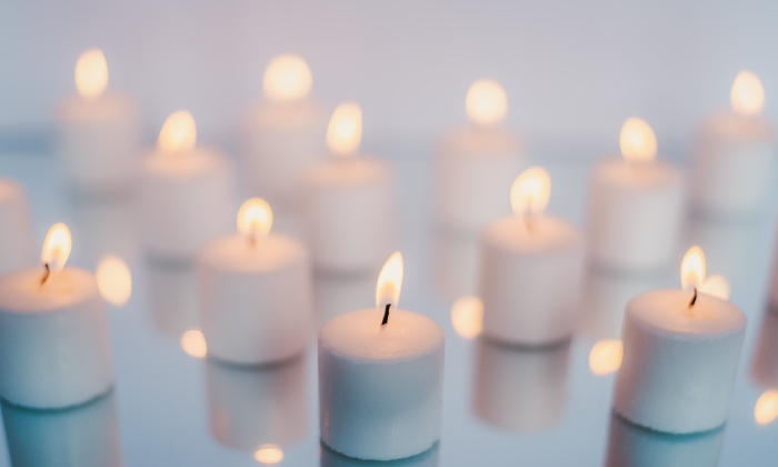 Unsplash white candles stock image