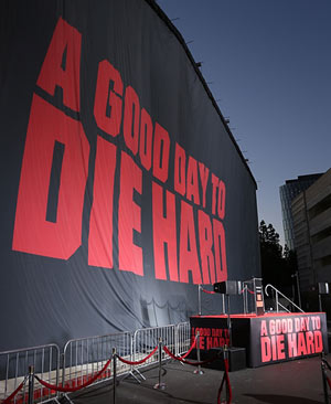 20th Century Fox Celebrates 25 Years Of 'Die Hard' With Mural On January 31st 2013