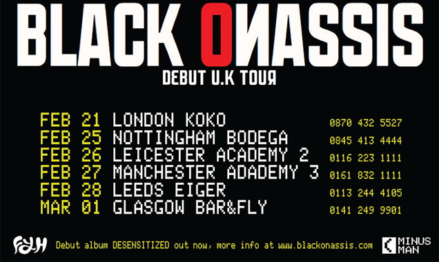 Black Onassis (Chris Karloff, Ex-Kasabian Announce Early 2014 Uk Tour