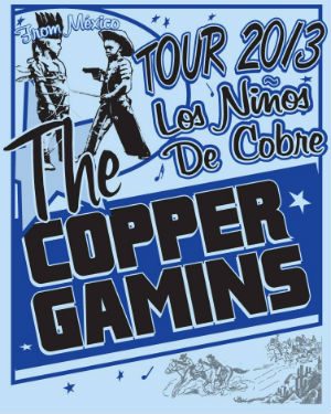 The Copper Gamins stage US 2013 tour supporting album 'Los Ninos de Cobre'