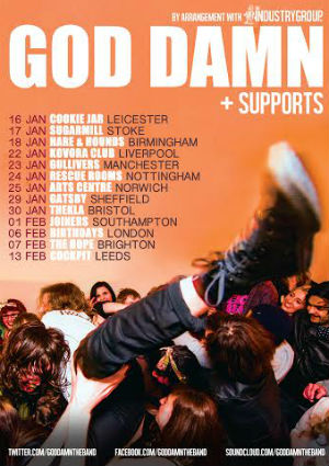 God Damn Announce 2014 Uk Tour Dates And Unreleased Track 'In Heaven'