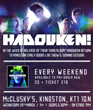 Hadouken! Announce One-Off Album Release Show On March 20th 2013
