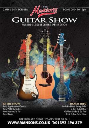 Manson's Guitar Show announces 2010 show dates