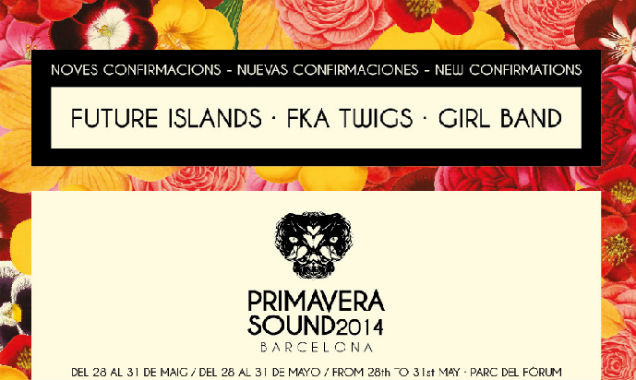 Future Islands, Girl Band And Fka Twigs Join The Primavera Sound 2014 Line-Up