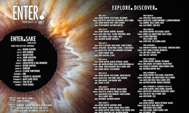 Richie Hawtin Returns To Space Ibiza  For Season Three Of Enter. Plus 2014 Line-Ups Revealed