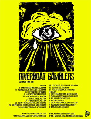 Riverboat Gamblers Announce January And February European Tour 2014