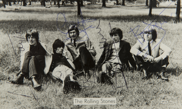 Signed Early Photo Of The Rolling Stones Goes Under The Hammer In Barnard Castle