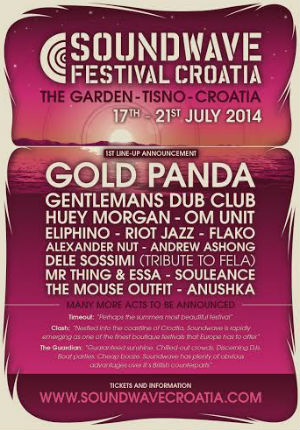 Soundwave Festival Croatia's First Line-up Announcement For July 2014
