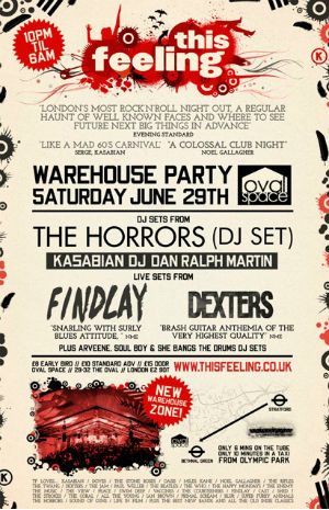 This Feeling Warehouse Party June 29th 2013 - The Horrors & Kasabian's Dj Set Live Bands