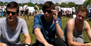 White Lies - Interview Glastonbury Festival 2009