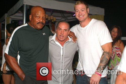 Jim Brown, Tommy Puccio and Jeremy Shockey