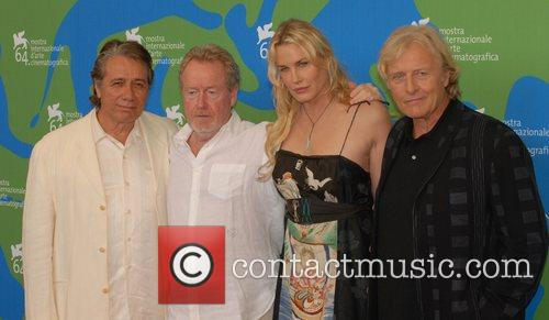 Edward James Olmos, Daryl Hannah, Ridley Scott and Rutger Hauer