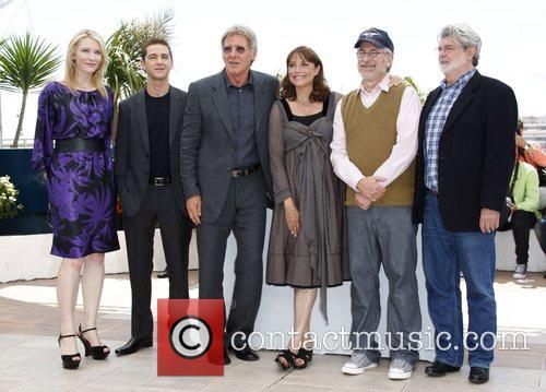 Cate Blanchett, Shia Labeouf and Steven Spielberg