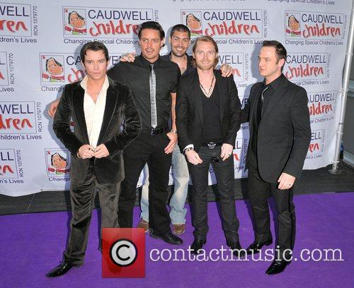 Stephen Gately, Keith Duffy, Ronan Keating and Shane Lynch