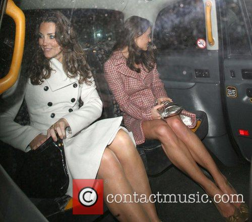 Kate Middleton, Her Sister Pippa Leaving Kitts Nightclub and On Her 26th Birthday.