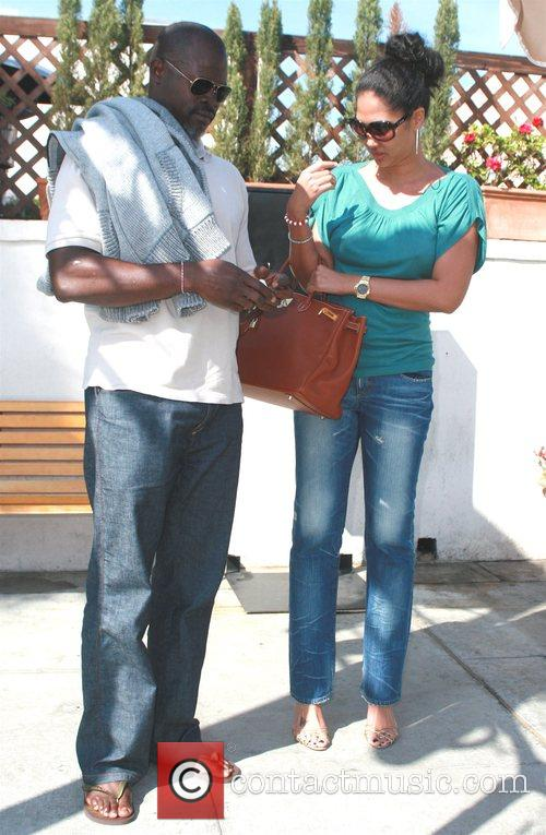 Kimora Lee Simmons and Djimon Hounsou 1