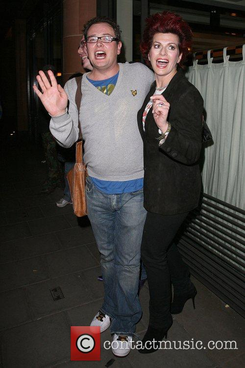 Alan Carr and Cleo Rocos