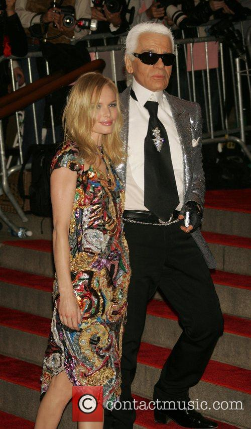 Kate Bosworth and Karl Lagerfield