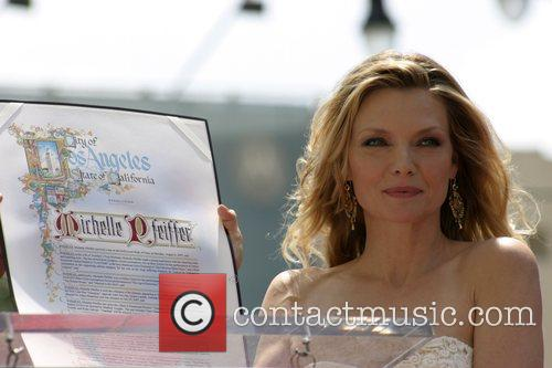 Michelle Pfeiffer and 345th Star On The Hollywood Walk Of Fame.