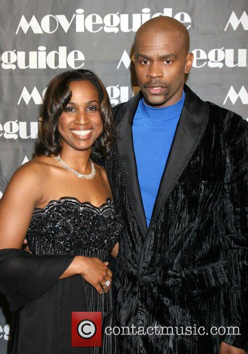Michael Jr. And Wife, Movieguide Faith And Value Awards 2008 and Beverly Hilton Hotel 4