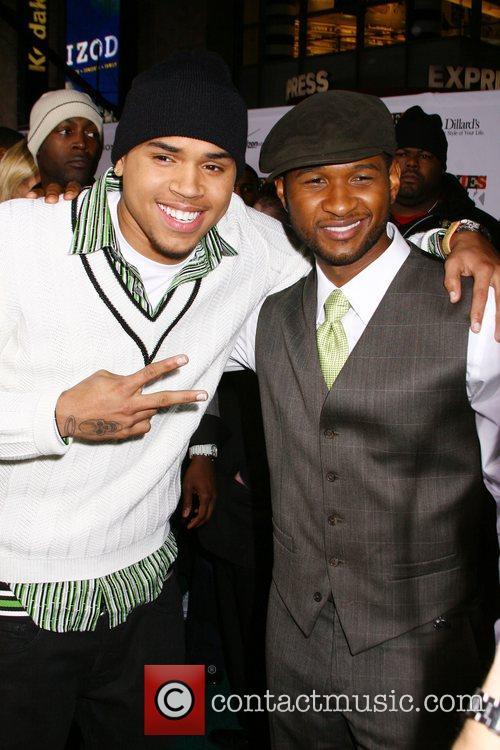 Chris Brown and Usher 4