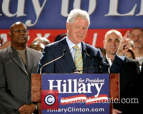 Bill Clinton, Andre Agassi and Hillary Clinton 1