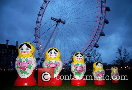 Life-size Russian Dolls On Display Outside The London Eye To Launch The Start Of Russian Fashion Week 1