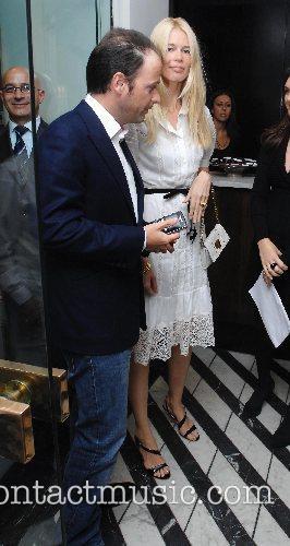 Claudia Schiffer and Matthew Vaughan