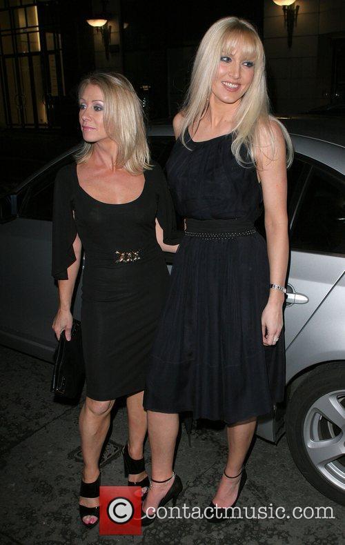 Karen Millen and Emma Noble Arriving At Sketch Nightclub