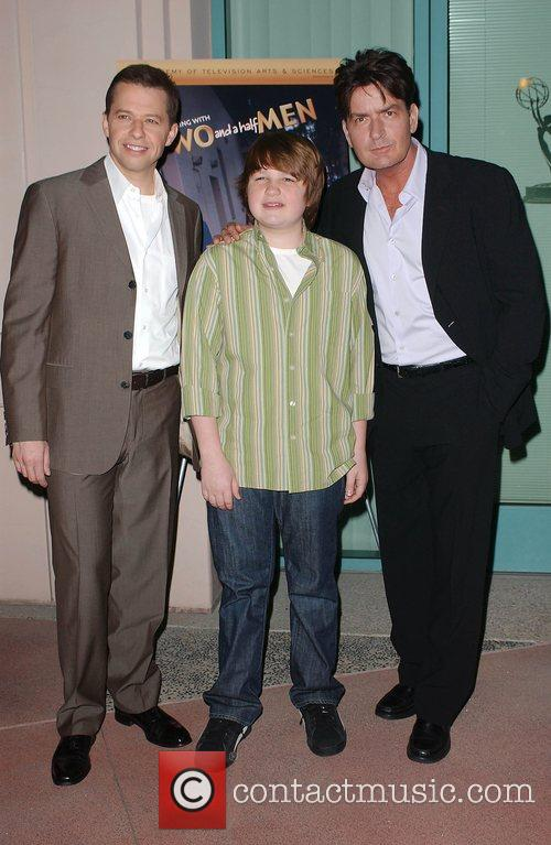 Charlie Sheen, Angus T Jones and Jon Cryer