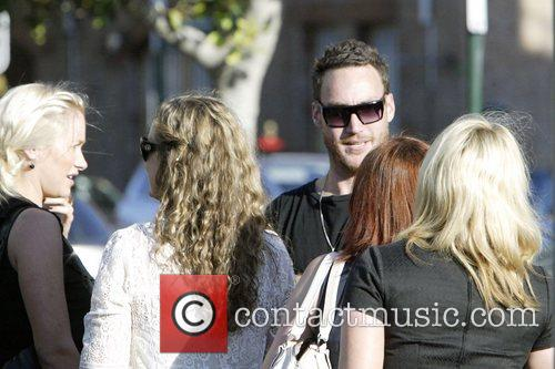 Callan Mulvey, From The Controversial New Australian Tv Drama Series 'underbelly' and Leaving A Restaurant With Friends