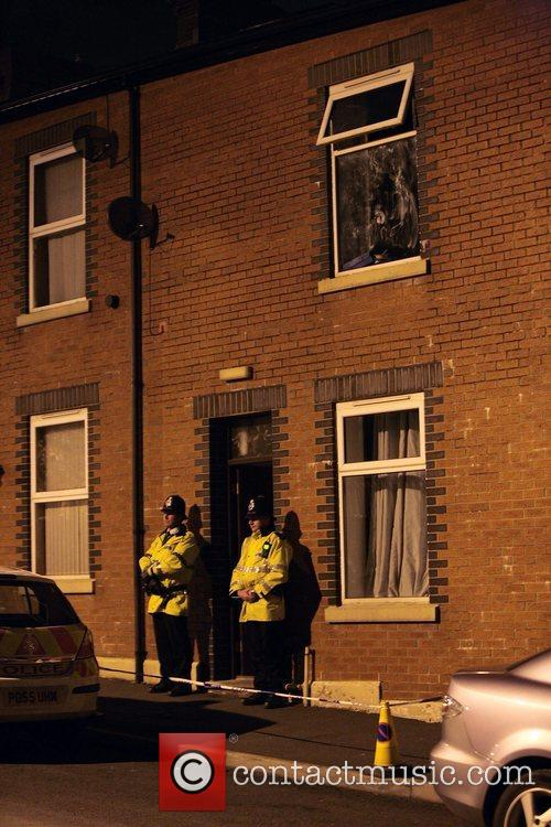 Police Stand Guard Outside Terror Suspects House In Blackburn 2