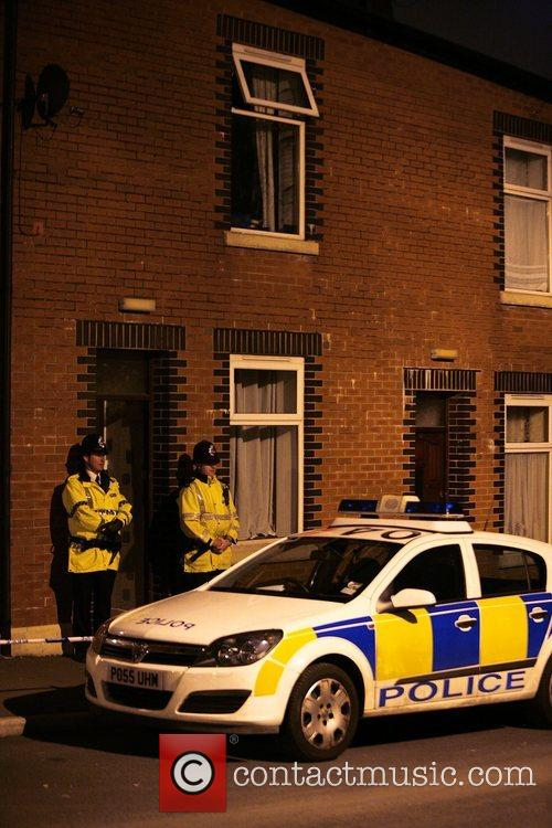 Police Stand Guard Outside Terror Suspects House In Blackburn 1