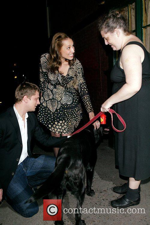 Rob Thomas, A Friend Say Hello To Margaret and Her Dog Cole