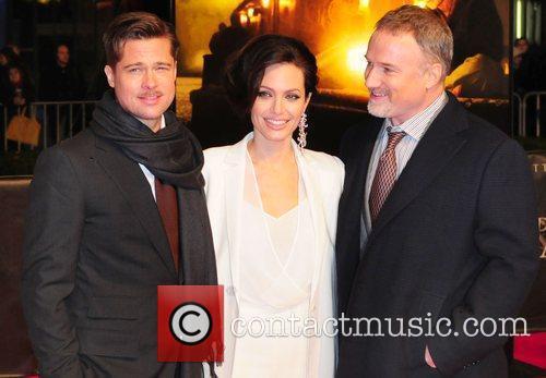 Brad Pitt, Angelina Jolie and David Fincher