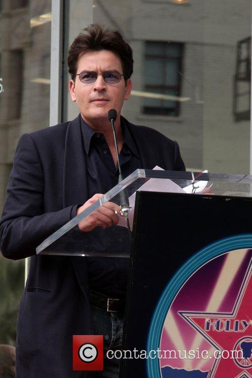 Charlie Sheen and Walk Of Fame 1