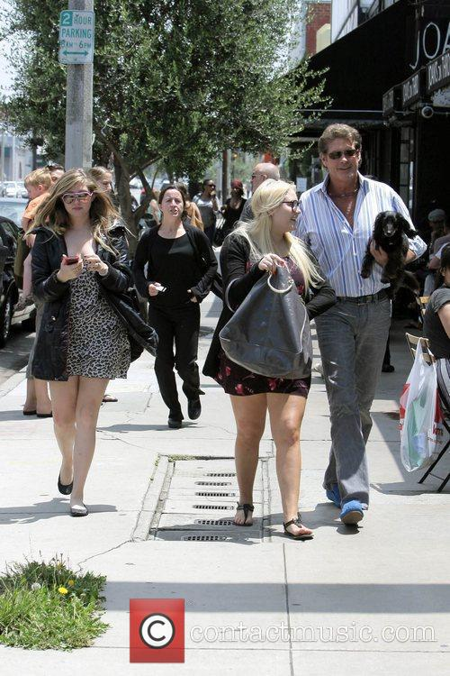 David Hasselhoff, His Daughters Hayley Hasselhoff and Taylor-ann Hasselhoff 8