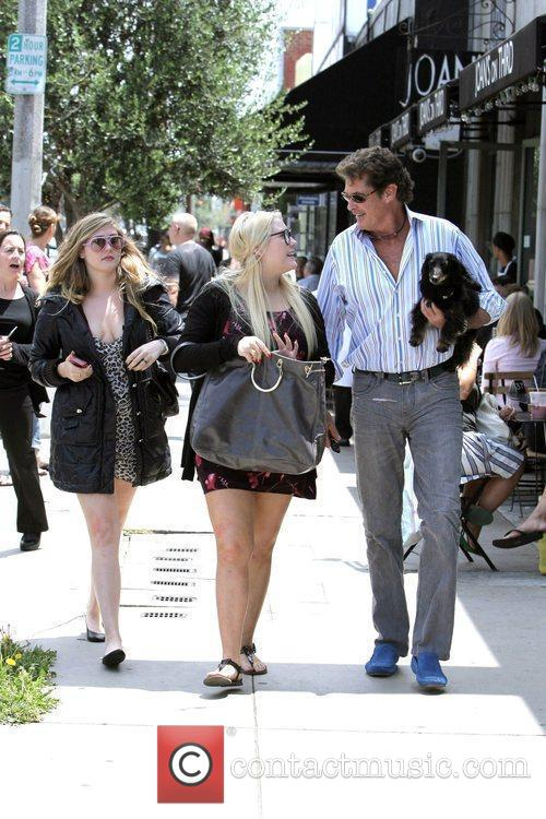 David Hasselhoff, His Daughters Hayley Hasselhoff and Taylor-ann Hasselhoff 4
