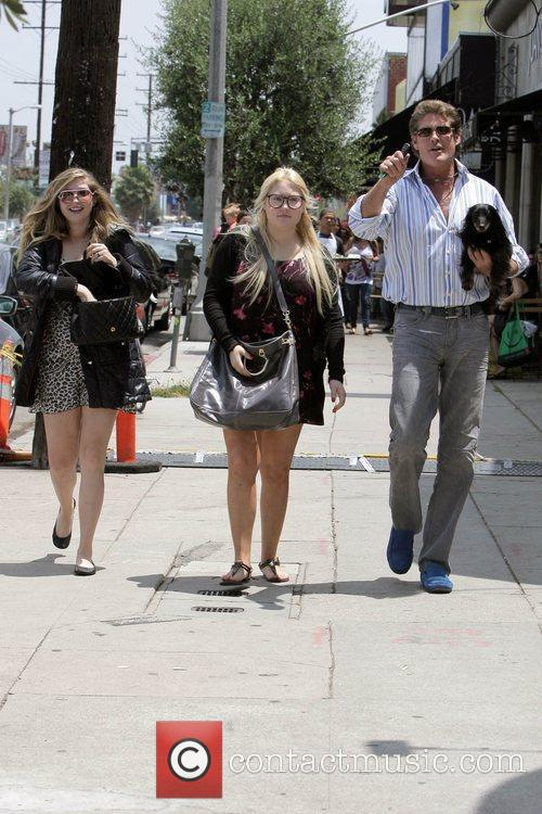 David Hasselhoff, His Daughters Hayley Hasselhoff and Taylor-ann Hasselhoff 10