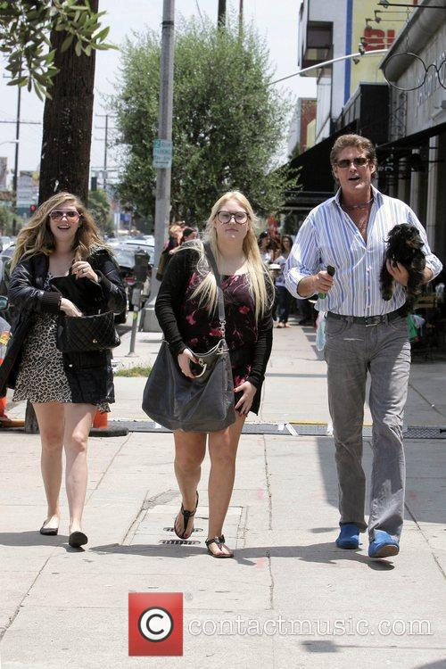 David Hasselhoff, His Daughters Hayley Hasselhoff and Taylor-ann Hasselhoff 5