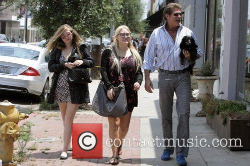 David Hasselhoff, His Daughters Hayley Hasselhoff and Taylor-ann Hasselhoff 1