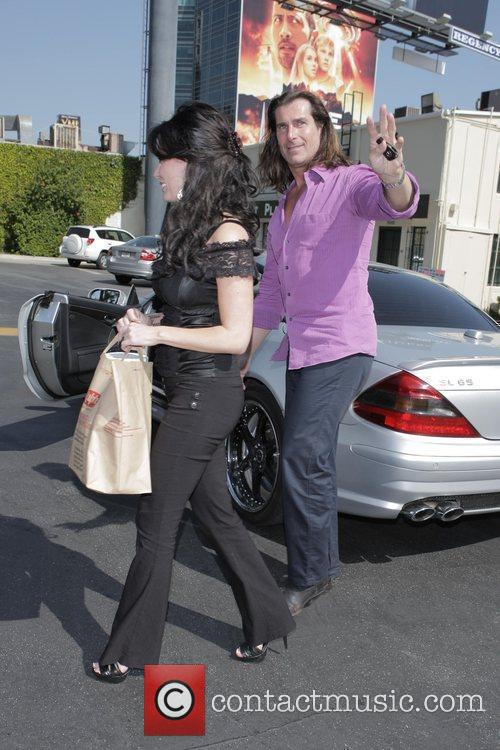 Fabio and His Female Friend Get Into His Parked Car At Sunset Plaza After Doing Some Shopping