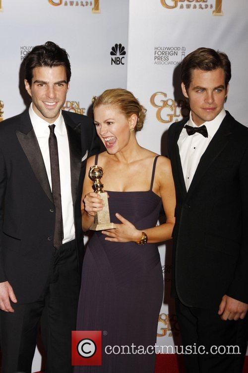 Zachary Quinto and Anna Paquin