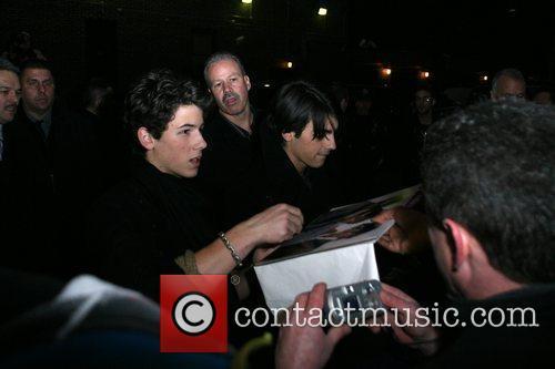 Jonas Brothers and David Letterman