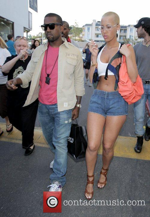 Kanye West, His New Girlfriend Amber Rose Go Shopping At H Lorenzo Boutique and Have Lunch At La Petite Four. 1