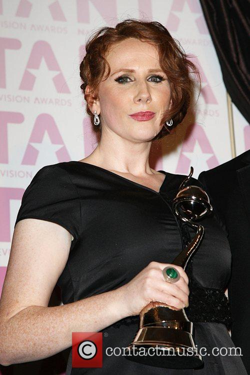 Catherine Tate and Collecting The Award For David Tennant 2