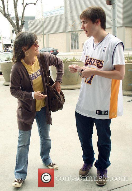 Sally Field, Her Son Samuel Greisman At A Lakers Game At The Staples Center and Staples Center 3